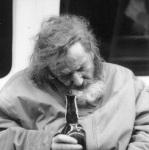 Drunk old man